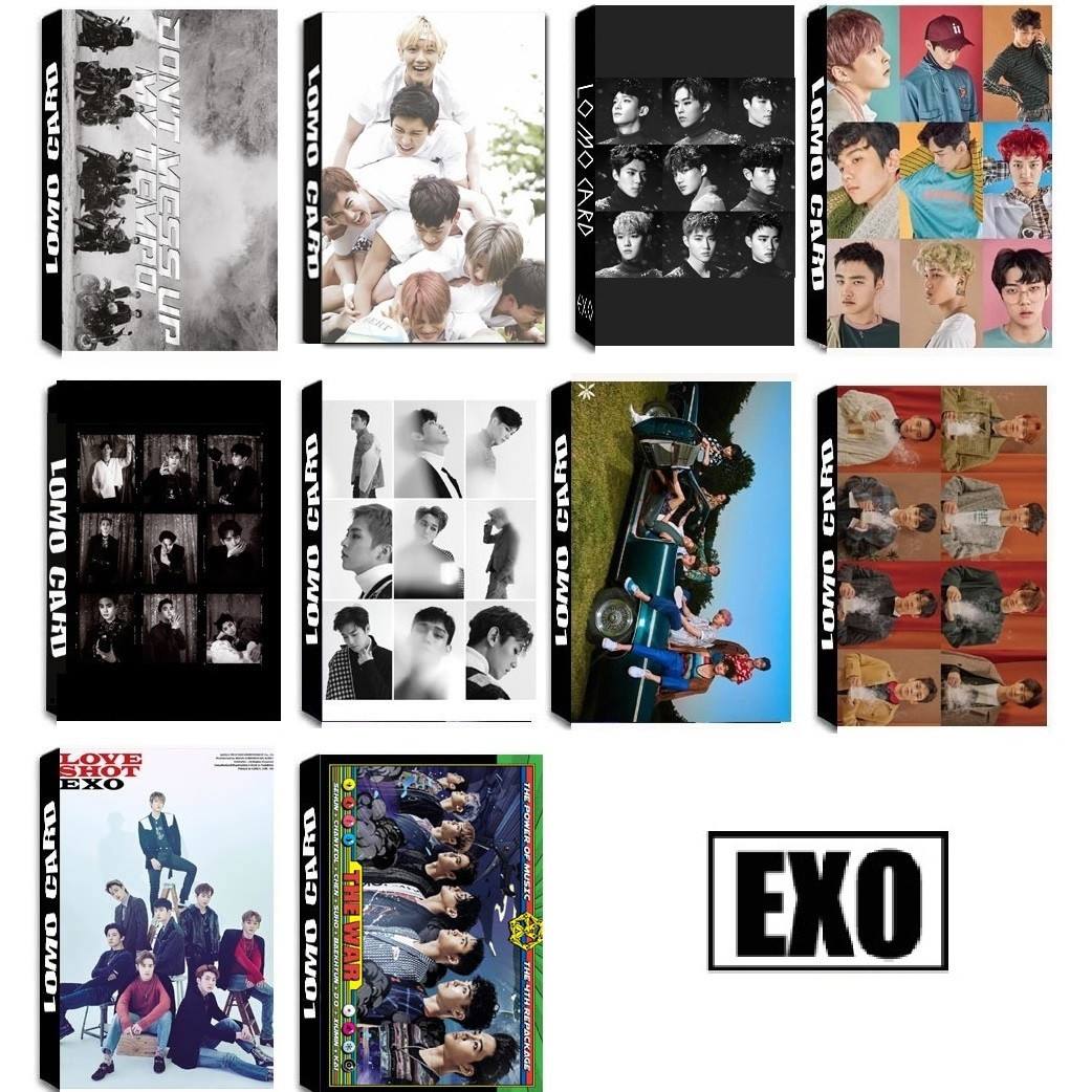 30Pcs/Box KPOP EXO Team 11 Album Universe The War Collection HD Photo Card PVC Cards Self Made LOMO Card Photocard