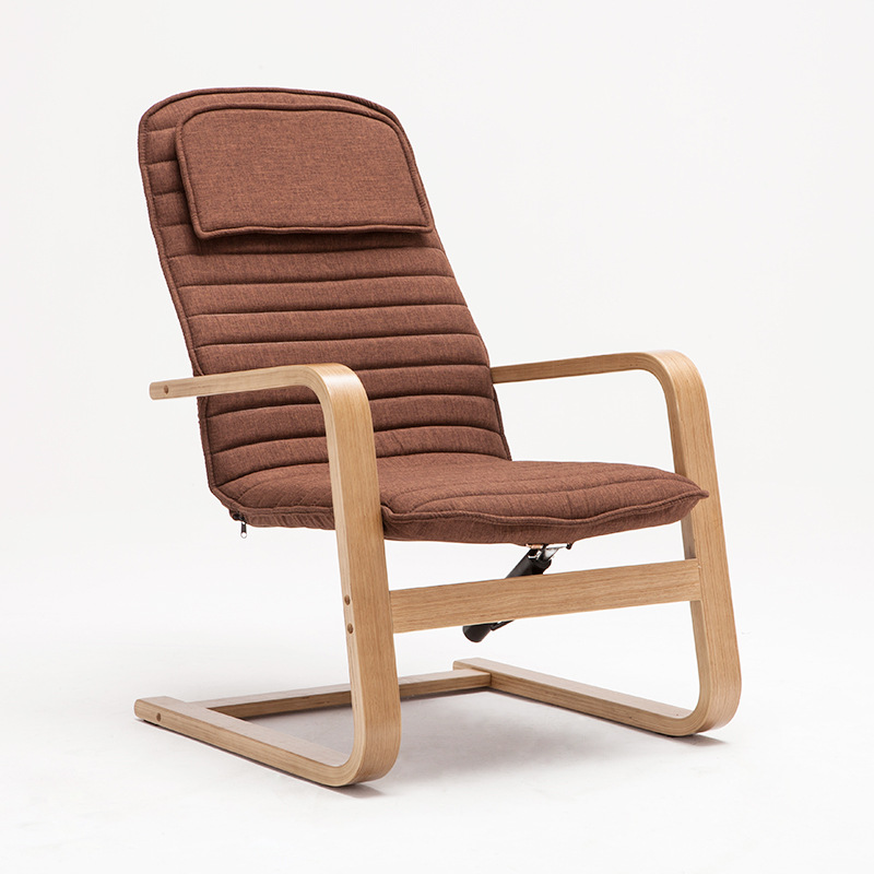 Modern Leisure Chair Armchair with Cushion Living Room Furniture Reclining Chaise Lounge Recliner Arm Chair Wood Bentwood Chair  цены