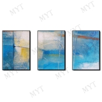3 pieces Hand painted on Canvas Painting Wall Art color cloud Oil Painting Home Decor Artist Painted Living Room Wall No Frame