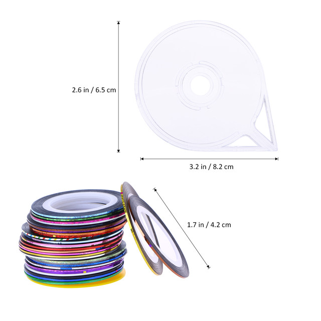 Online Shop 32 Colors Nail Art String Tape Line Stickers for Nail ...