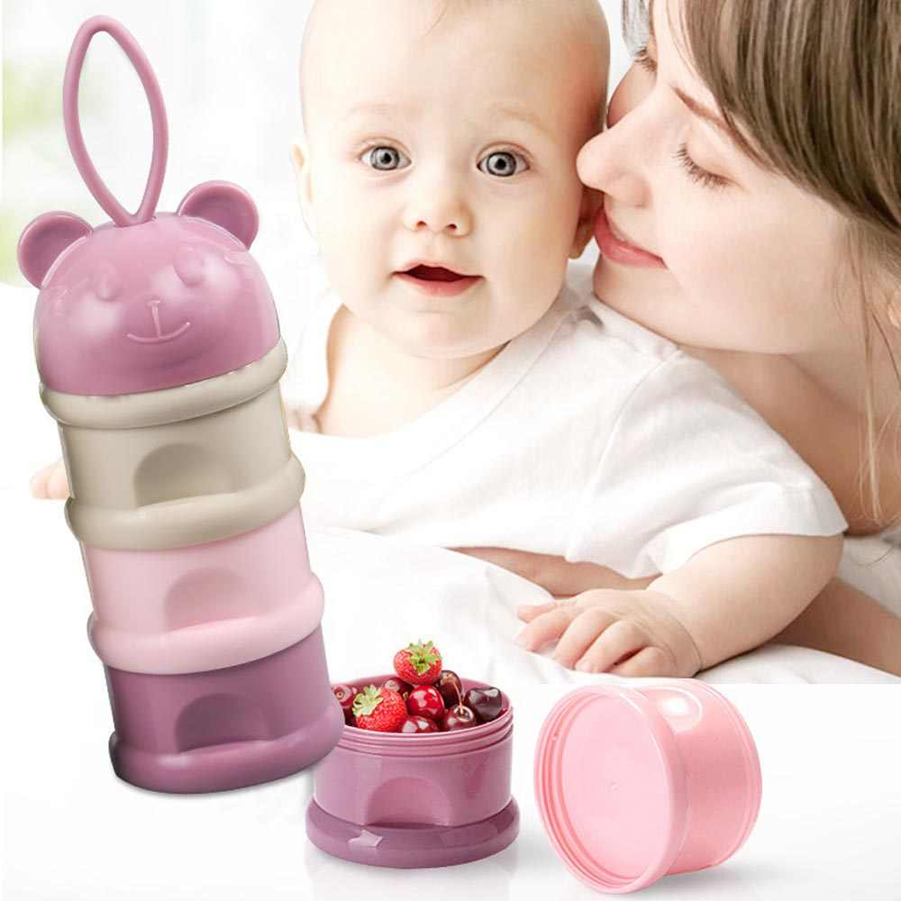 3layers Pp+Silicone Baby Food Storage Food Snack Box Milk Boxes Toddle Kids Milk Container Portable Food Box for Baby Feeding