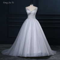 Elegant Women Wedding Dress Long 2017 New Arrival Design Women Wedding Dress Sleeveless Women Ball Grown