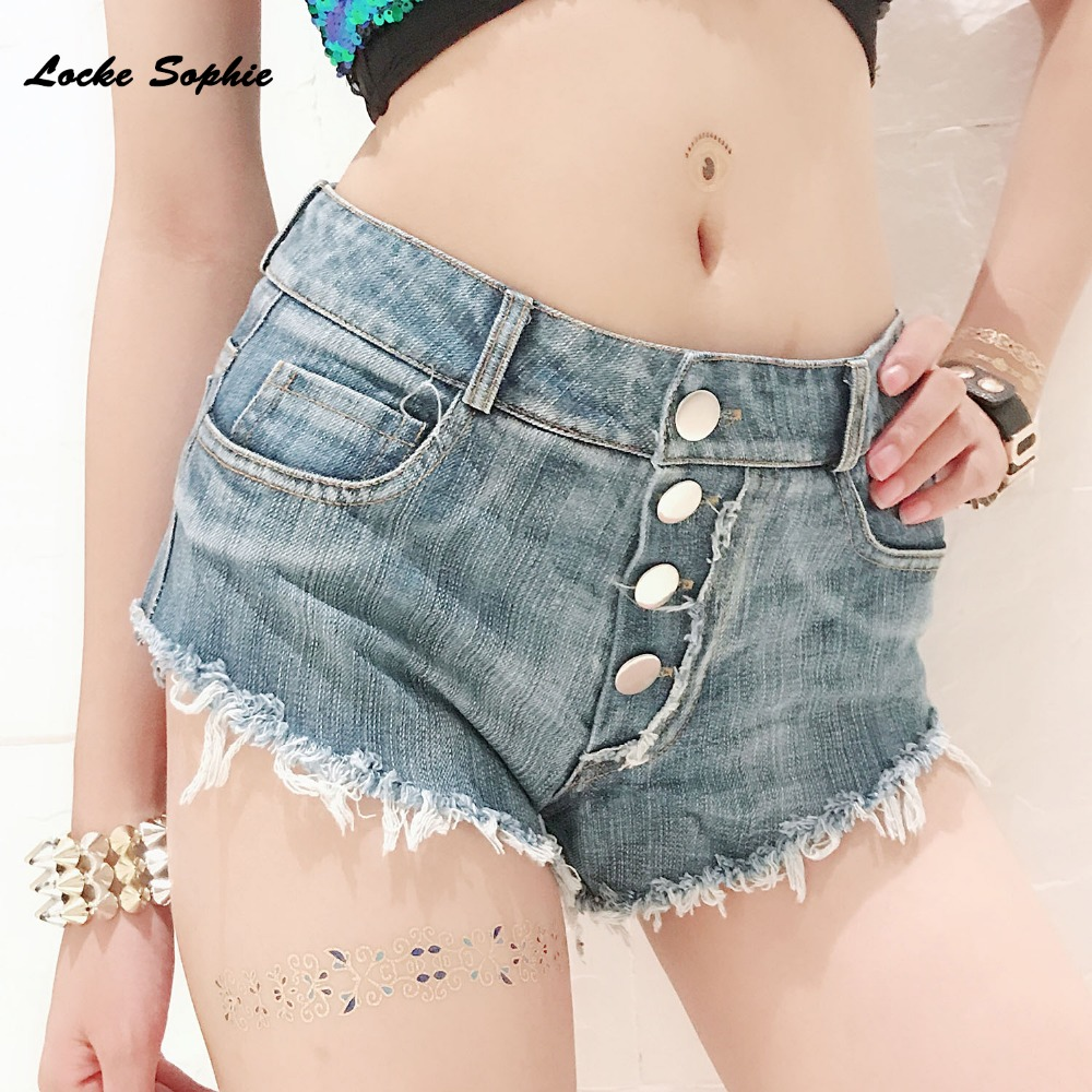 1pcs High Waist Sexy Women's Jeans Denim Shorts 2019 Summer Denim Broken Hole Shorts Ladies Skinny Super Nightclub Short Jeans