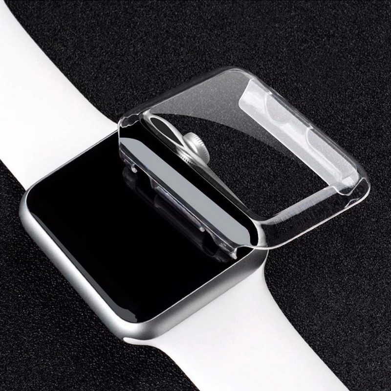 цены на New 1PCS Transparent Frame Case Clear Ultra Thin Hard PC Protective Cover For Apple Watch Series 3 2 1 iwatch 38/42mm в интернет-магазинах