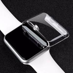 New 1PCS Transparent Frame Case Clear Ultra Thin Hard PC Protective Cover For Apple Watch