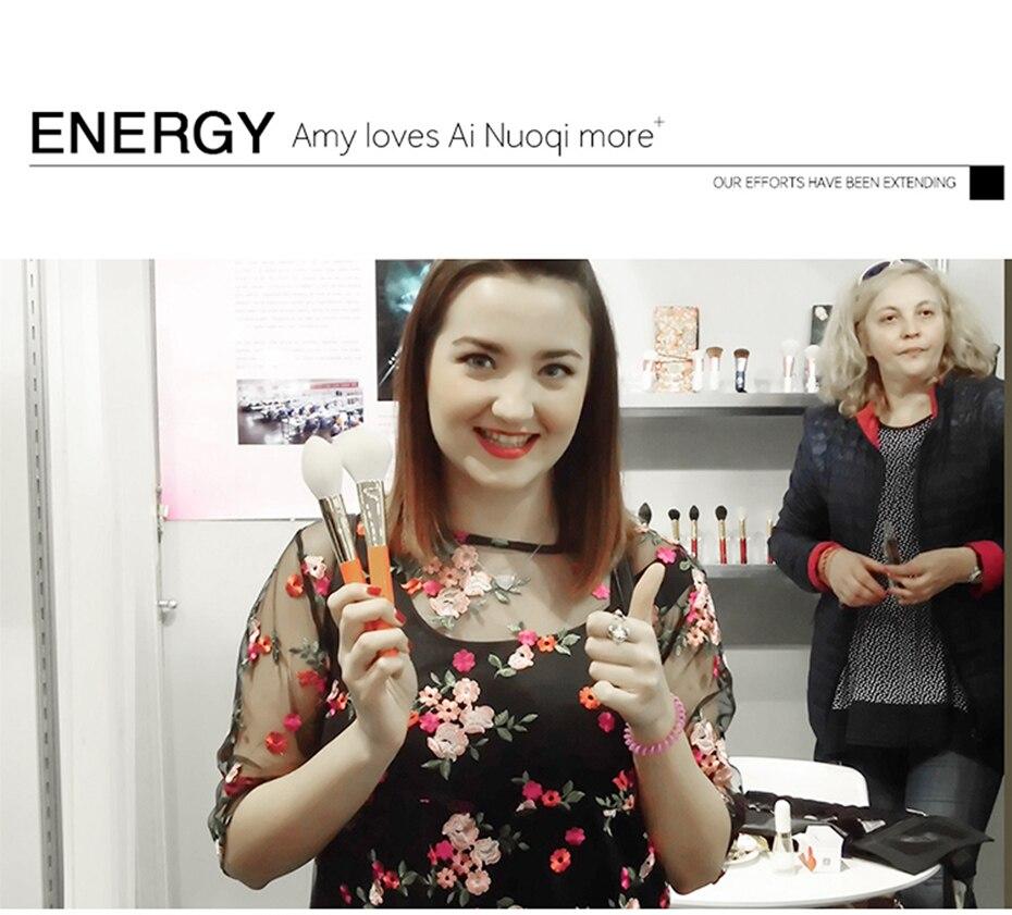 Energia premium cosméticos pó escovas de cabelo