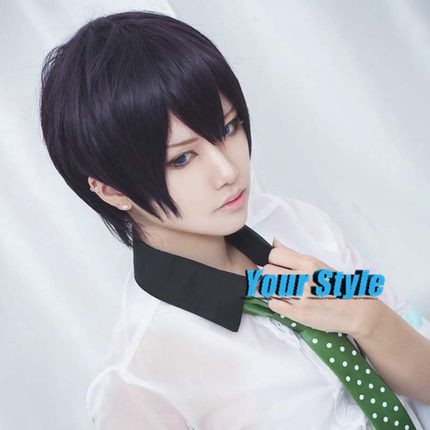 Japanese Noragami Cosplay Wig Synthetic Short Boy Pixie Cut