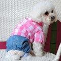 2015 new pet clothing plaid fashion dog clothing Free Shipping
