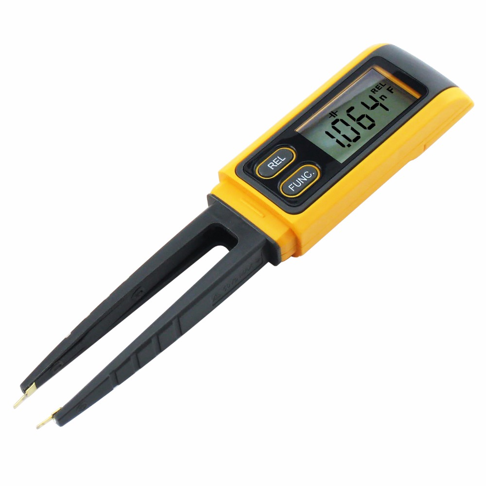 Meter Reading Practice Test : Handheld tweezers digital resistance capacitance diode
