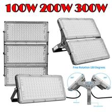 1Pcs Ultrathin LED  Module Flood Light 100W 200W 300W IP65 110V/220V Spotlight Refletor Outdoor Lighting Garden Lamp