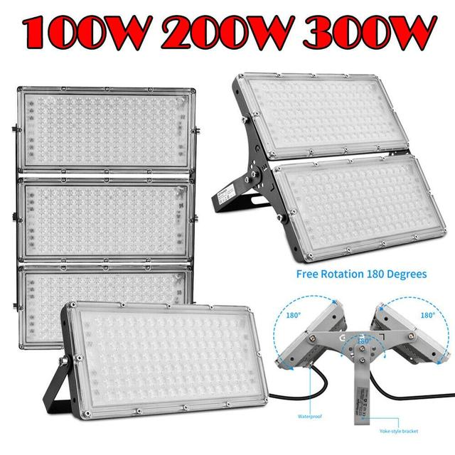 1Pcs Ultrathin LED  Module Flood Light 100W 200W 300W  IP65 110V/220V LED Spotlight Refletor Outdoor Lighting Garden Lamp