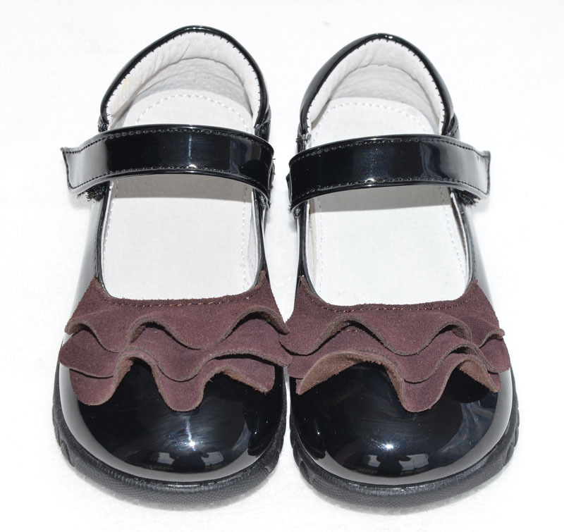 Girls Genuine Leather Shoes Children Spring Autumn Leather Shoes Toddler Casual Princess Single Shoes