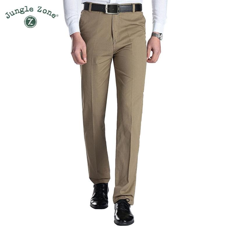 2017 Sommer Neue Männer Casual Hosen Männer Marke Hosen 100% Baumwolle Gerade Hosen 6 Farbe Khaki Männlichen Hose Plus Größe