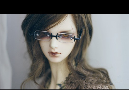 Vintage BJD Doll Oval Glasses For 1//6 YOSD 1//4 MSD  Doll Accessories GS3-4