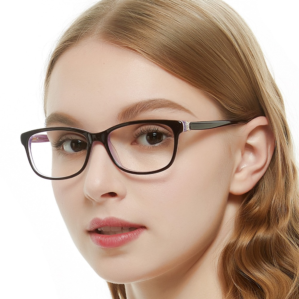 f93caabd671 OCCI CHIARI Glasses Clear Optical Women Glasses Frame Clear Lens Eyeglasses  Spectacles Trendy Acetate Red Purple W-CARATA