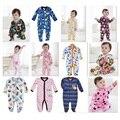 Macacão de lã Bebê Pijamas ternos Do Corpo roupas de Algodão menino bebe meninas macacão Tampa Do Pé Recém-Nascido uma peças de Roupas