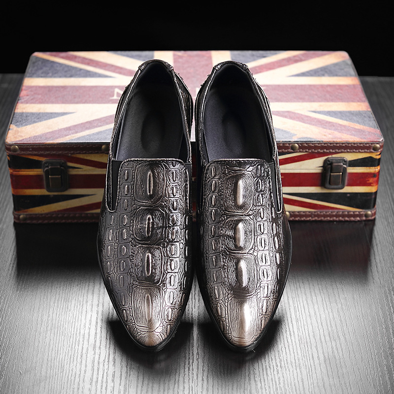 2018 Luxury Italian Men Wedding Black Lace Up Oxford Genuine Leather Crocodile Print Party Business Male Dress Brown Shoes 2962 men luxury brand python leather dress shoes male high grade full leather oxford shoes lace up brown dress men free ship dhl page 1