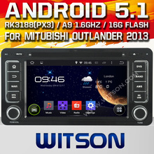 WITSON Android 5.1 CAR DVD PLAYER for MITUBISHI OUTLANDER 2013 car dvd gps Capacitive touch screen Cortex A9 Qual-core 16GB Rom