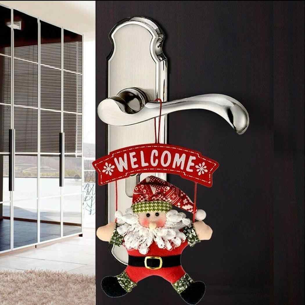 Рождественская елка висячая кукла орнамент письмо Санта Клаус дверной кулон красный домашний декор Oldmen, снеговики