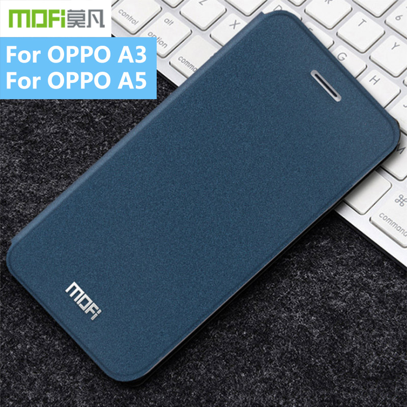 Original MOFi Rui Series Luxury Flip Leather Matte Back Protective Phone Cover Case For OPPO A3 Case For OPPO A5 Case image