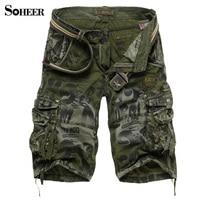 SOHEER Bán Hot Cargo Shorts Men Casual Hiệu Camouflage Thời Trang Làm Việc Quần Bermuda Nam Giới Bán Buôn Lớn Kích Thước Quần Short