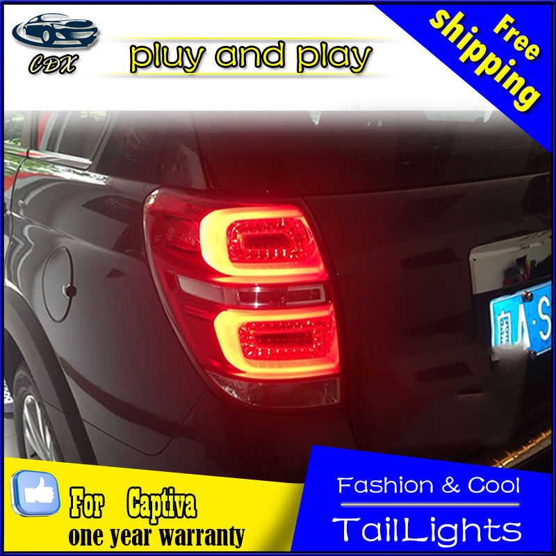 Car Styling Tail Lamp for Chevrolet Captiva Tail Lights New Captiva LED Tail Light Rear Lamp LED DRL+Brake+Park+Signal Stop Lamp