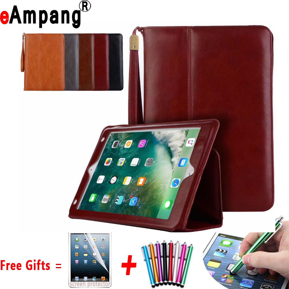 High Quality Leather Case for Apple iPad 2 3 4 9.7 inch Handheld Magnet Smart Case Cover for iPad 2 3 4 9.7 with Card Pocket for ipad mini4 cover high quality soft tpu rubber back case for ipad mini 4 silicone back cover semi transparent case shell skin