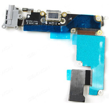 все цены на New Charger Port Dock USB Connector Flex Cable For iPhone 6 Plus 5.5 inch Headphone Audio Jack Flex Ribbon Replacement онлайн