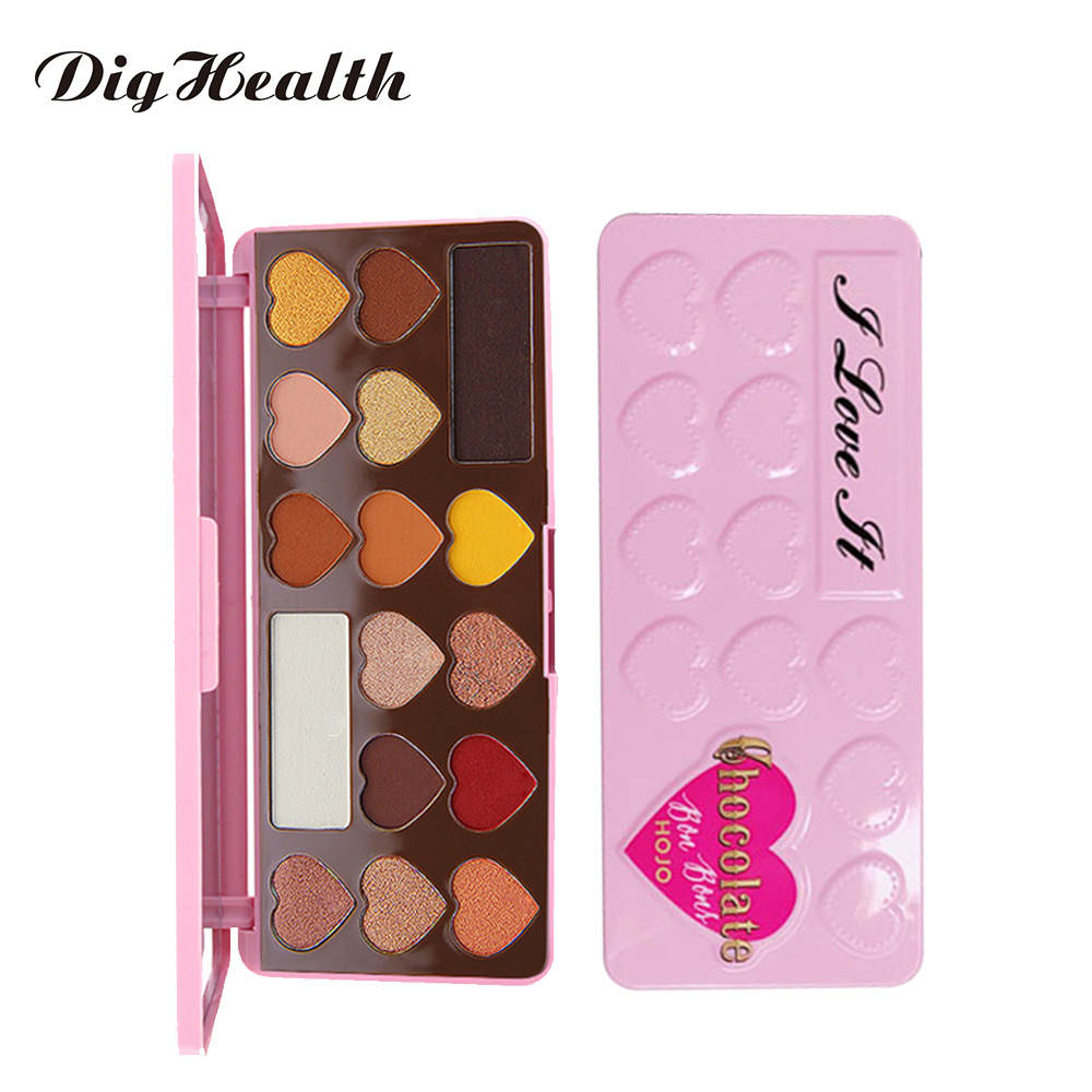 Dighealth Heart Shaped Beauty Glazed 16 Color Eyeshadow Pallete Glitter Powder Eyeshadow Long Lasting Make Up Palette Sombras цена 2017
