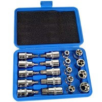 19pcs Socket Set 1/2 Inch Drive Star Socket Bit Socket Set External E10 E24 Torx T20 T70 Socket Pressure batch Set