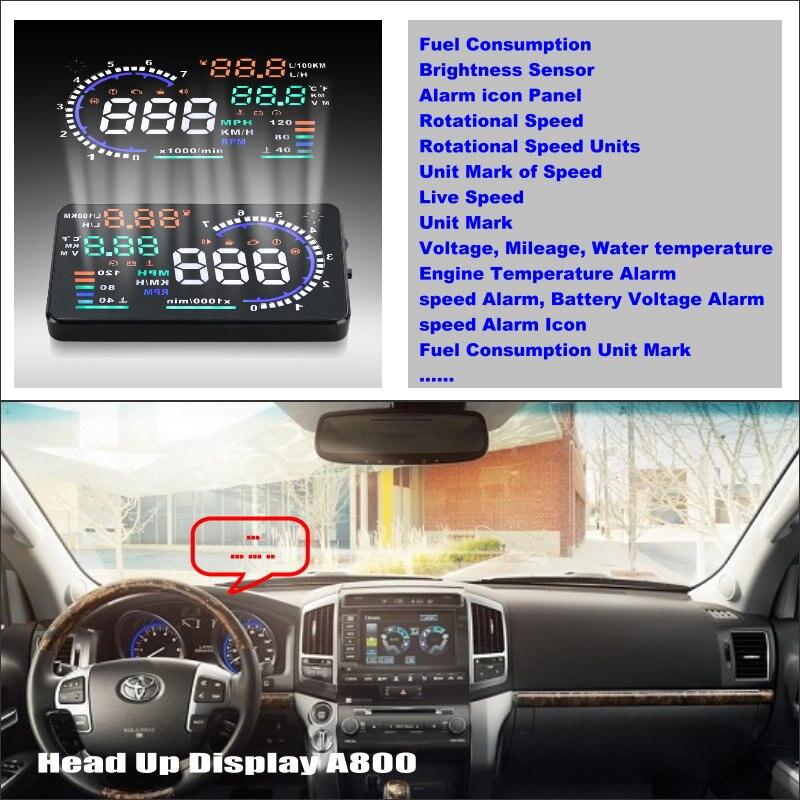 ФОТО For Toyota Land Cruiser 70 100 200 V8 Roraima - Car HUD Head Up Display  - Safe Driving Screen Projector Refkecting Windshield