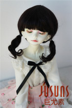 JD357 1/3 1/4 MSD Lovely Short two pigtails BJD wigs size 7-8 inch 8-9inch Mohair doll wigs for BJD dolls