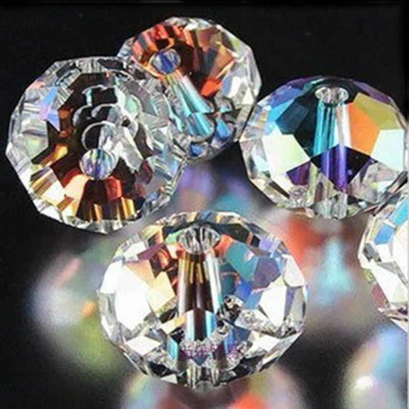 8588eff35 Flat Round Shape white AB color crystal beads 3MM 4MM 6MM 8MM 10MM 12MM  14MM supply