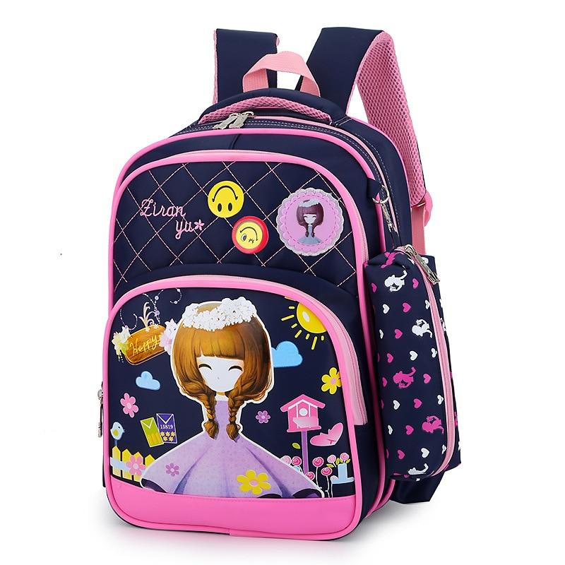 children school bags girls cartoon backpack princess orthopedic backpack kids schoolbag primary school backpacks kids sac enfant