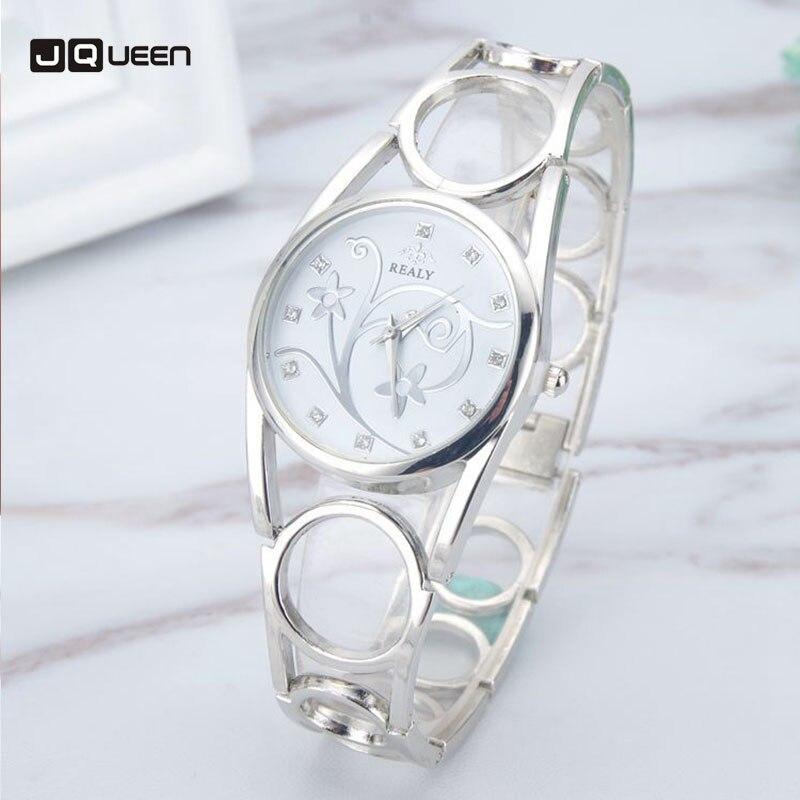 Quartz Watches Women Hollow Stainless Steel Ring Wristwatch Printing Girls Clock Relogio Feminino