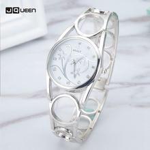 Quartz Montres Femmes Creux Anneau En Acier Inoxydable Montre-Bracelet Impression Filles Horloge Relogio Feminino