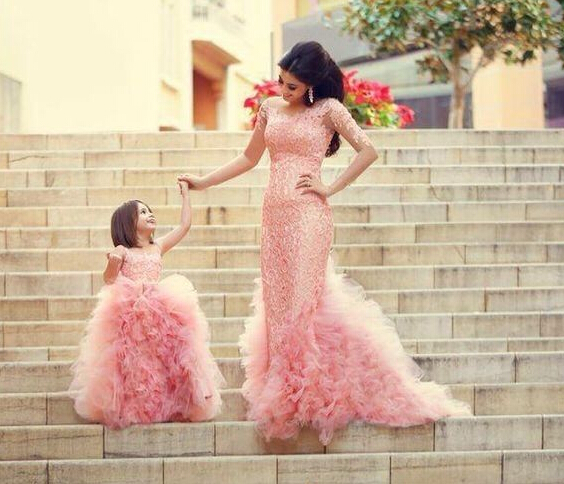 2015 New Princess Flower Girl Dresses Ball Gown Communion Ball Party Pageant Dress for Wedding Little Girls Kids/Children Dress