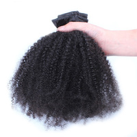 Clip In Human Hair Extensions 4B 4C Afro Kinky Curly Clip Ins Brazilian Remy Hair Full Head 7 Pcs/Lot 120G Prosa Hair Products