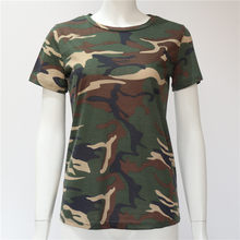 8f7971dd6 Las mujeres Camouflage T camisa 2019 Camiseta de manga corta de verano  niñas Casual Tops Tees delgado o-Cuello mujer Tops de alg.