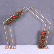 Wedding pentagonal iron art arch stage decoration special-shaped frame geometric sen department of wedding props