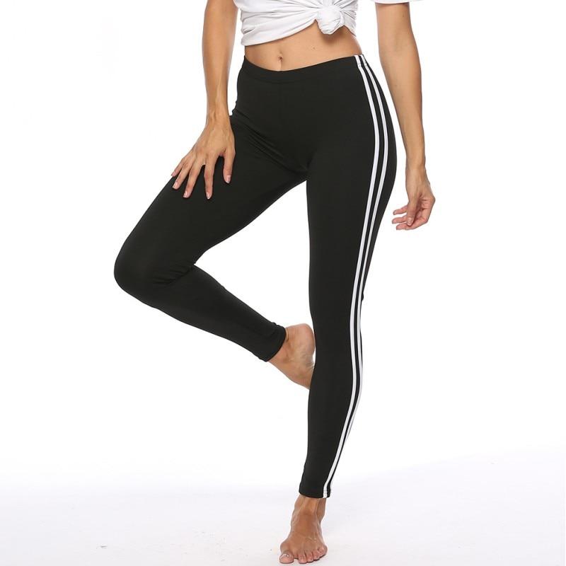 Leggings   Women   Legging   Fitness Feminina Workout Leggins High Waist Fitness Leging Sporting Pants Side stripe   Leggings