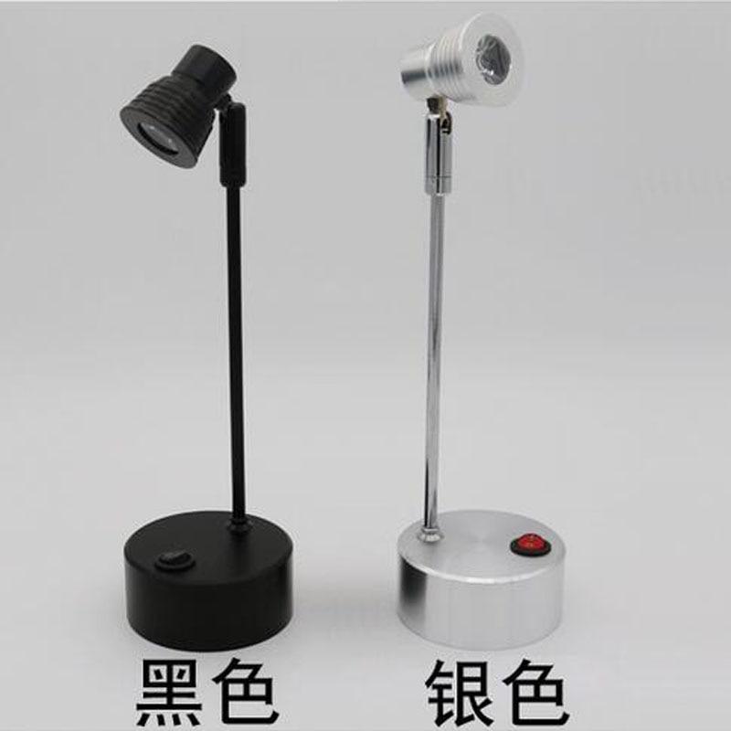 Led Batterie Lampe Schaufenster Zähler Oberfläche Montiert Lange Stange Mini Miniatur Schmuck Kann Bewegen Und Laternen lo4613 - 2