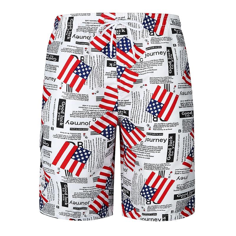 Shorts Mens Bermuda 2018 Summer Flags Printed Men Beach Hot Cargo Men Boardshorts Male Brand MenS Short Casual Fitness