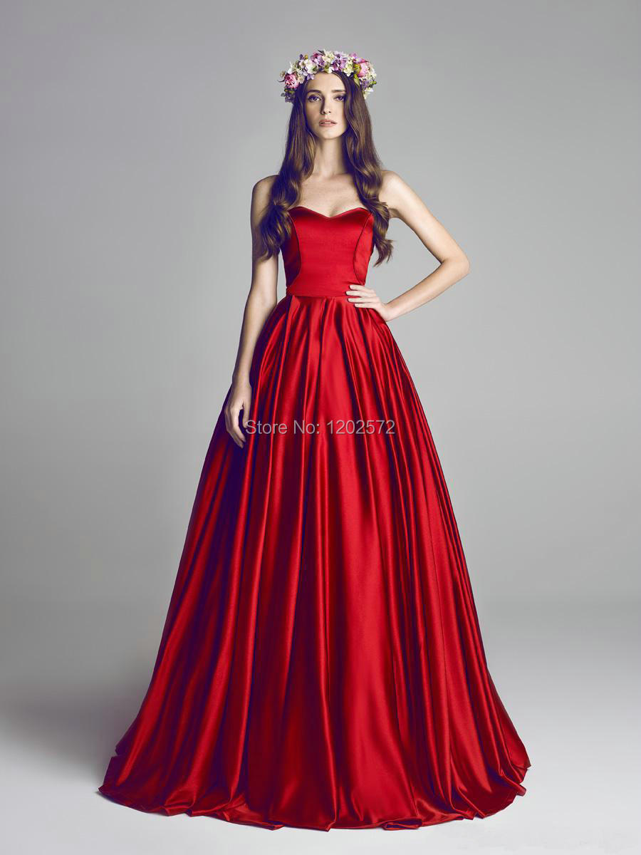 Custom Made Prom Dress 2015 Formal Dresses Evening Gowns Dark Red ...