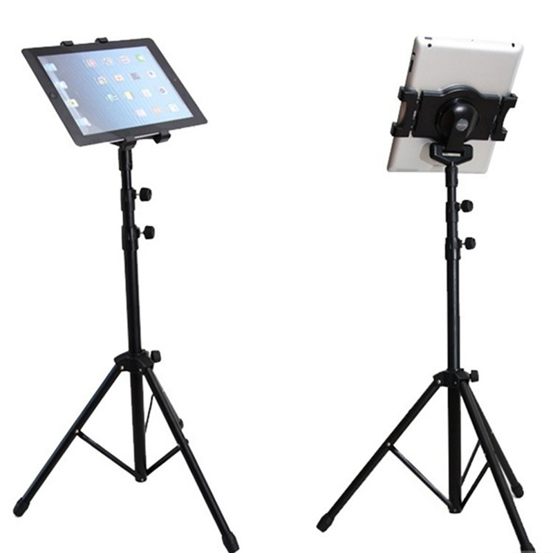 Universal Multi-direction Floor Stand Tablet Tripod Mount Holder For 7-10 Inch iPad Mini Air Samsung XXM8 tripod rotation tablet holder stand for ipad air mini 2 3 4 tablet mount 7 10 inch floor tripod stand for samsung kindle huawei