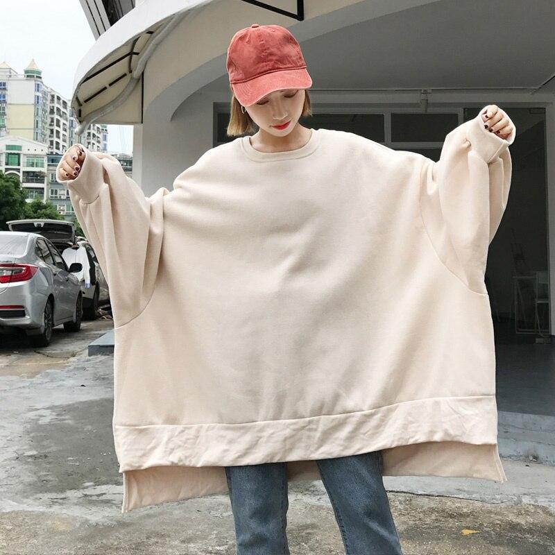 Oversized Pullover Women Harajuku Autumn Winter Loose Long Sleeve Female Sweatershirt