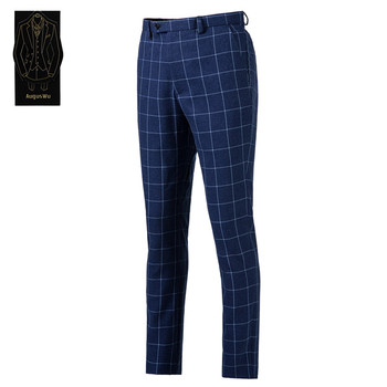 New high-end men's suit pants men's wool blend fit suit pants men's business office formal suit pants