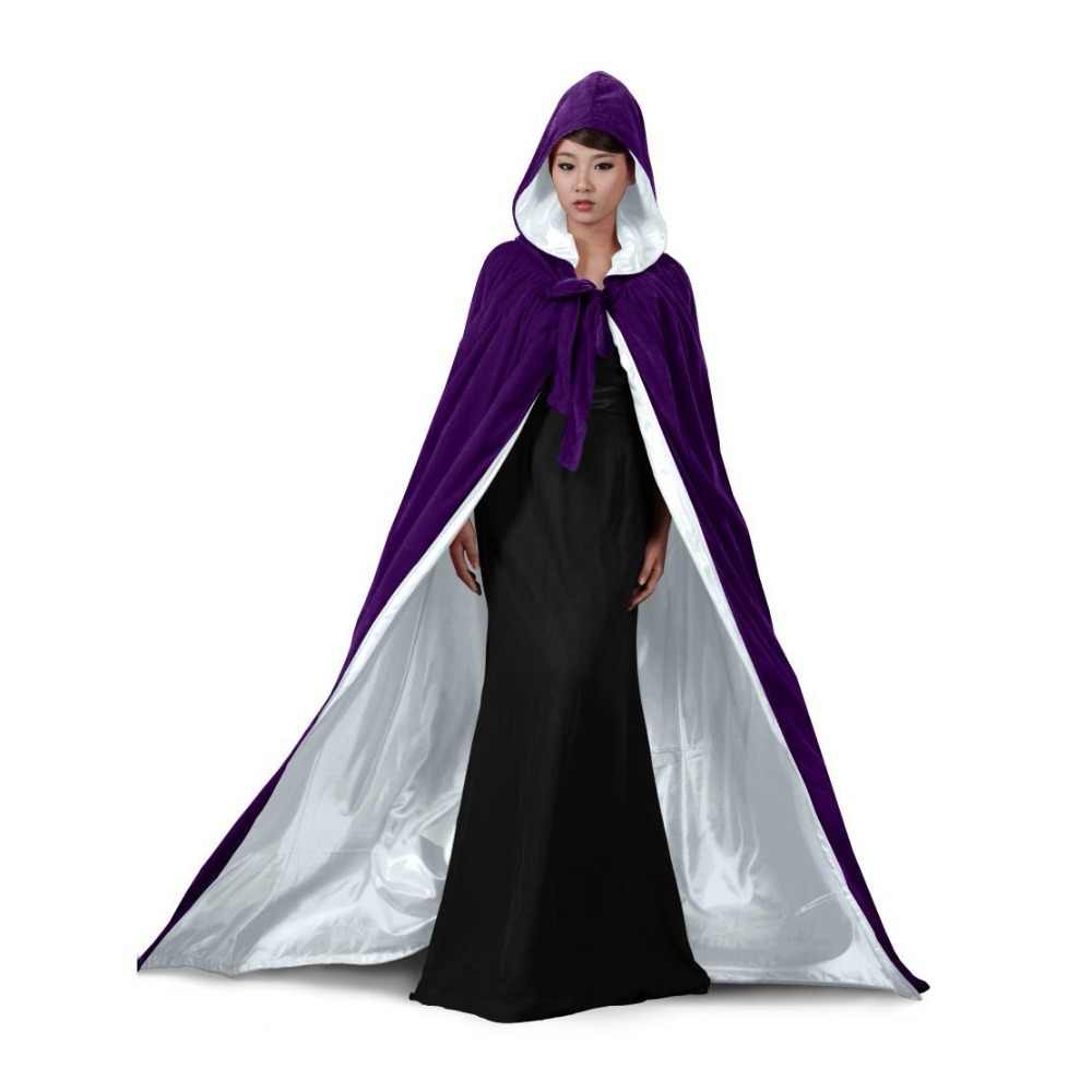 e96145f200e ... Mantle Hooded Cloak Coat Wicca Robe Medieval Cape Shawl Halloween  Cosplay Party Witch Wizard Costumes