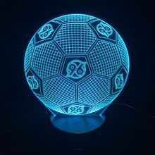 Creative 3D Lights German Hannover Soccer Team Football Fuss Ball LED Touch Lamp Multi Color Change Lava Lamp Luminarias(China)