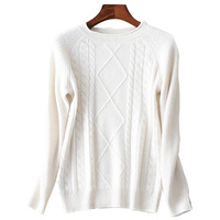 2019 Spring Women Twist O Neck Sweater White Luxury Diamonds Srquines Cashmere Knitted Pullover Fashion Wool Jumpers Knitswear